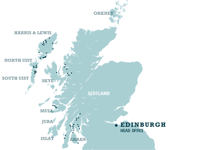 map of scotland showing scottish salmon company sites